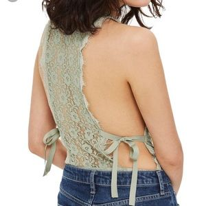 NWT Topshop Green Lace Bodysuit